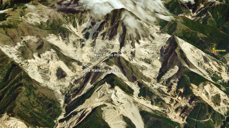 Carrara Marble Quarries Carrara Map 6 Google Earth