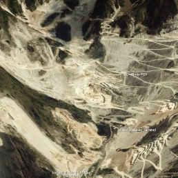 Carrara Marble Quarries Map 7 Google Earth