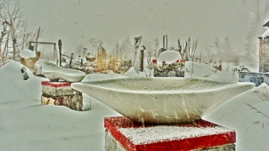 Lemonworld, The 1314 Winter Collection, Colorado Yule Marble Sculpture by Martin Cooney