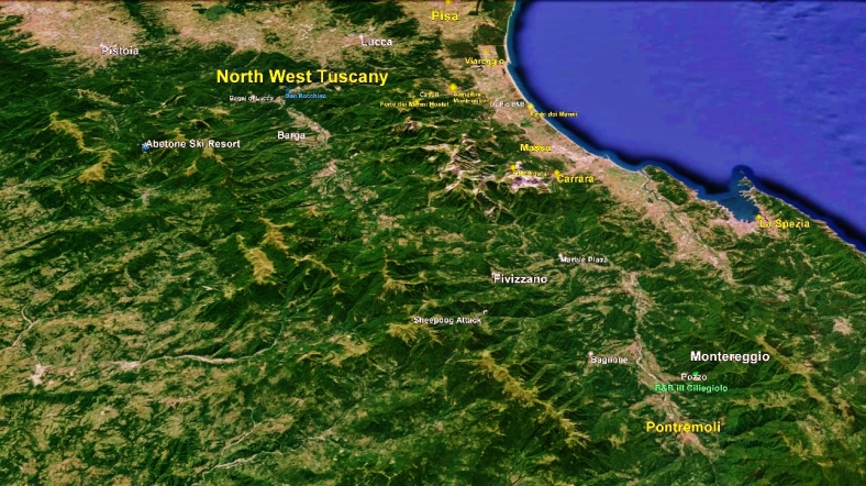 Lunigiana Map 2 Google Earth