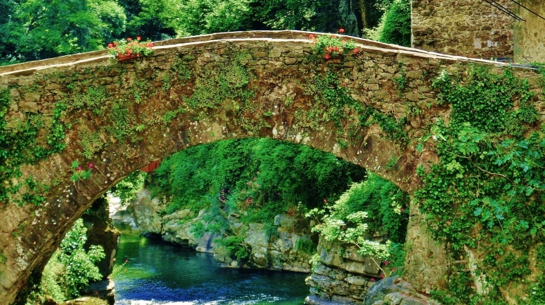 Ancient bridge, Bagnone, Lunigiana, Italy