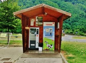 Fresh Local Milk Dispenser, Borgo a Mozzano, Tuscany