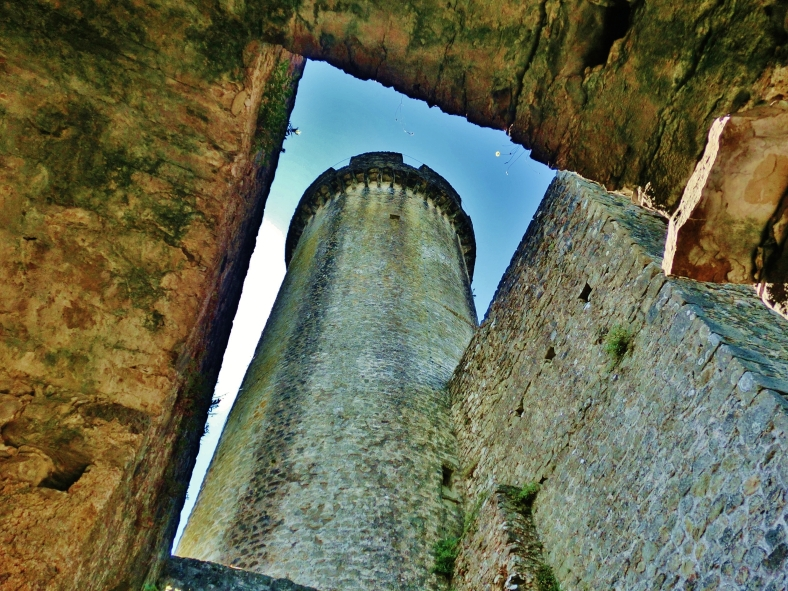 Round Tower in a Square Hole, Rapunsel's Tower, Castello di Malgrate, Lunigiana, Tuscany, Italy