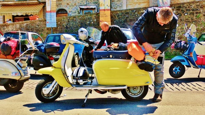 Scooter parade, Bagnone, Lunigiana, Tuscany, Italy