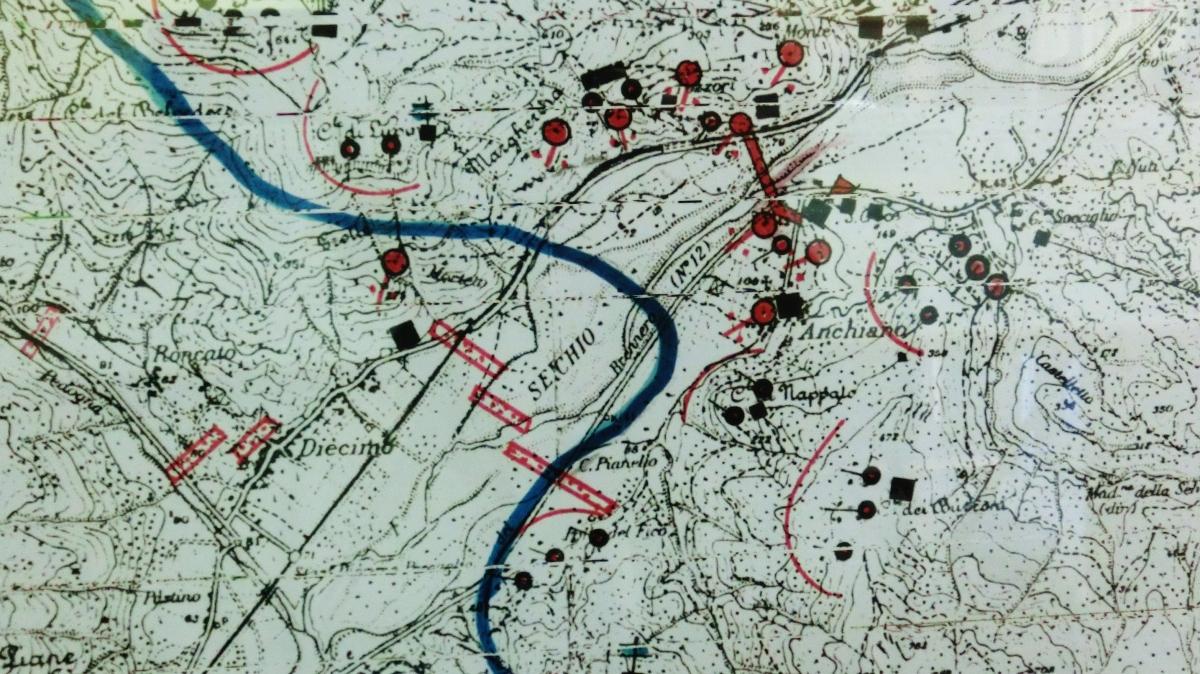 The Gothic Line, Map at Borgo a Mozzano