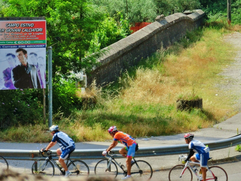 Cyclists Pass Gothic Line Anti-Tank Remnants, Borgo a Mozzano