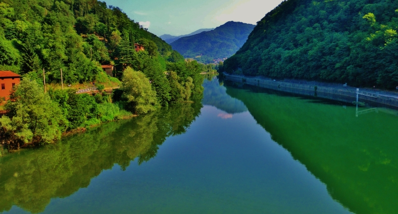 View North from Devil's Bridge, Borgo a Mozzano