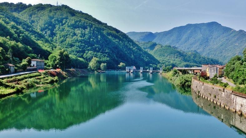 View South from Devil's Bridge,Borgo a Mozzano