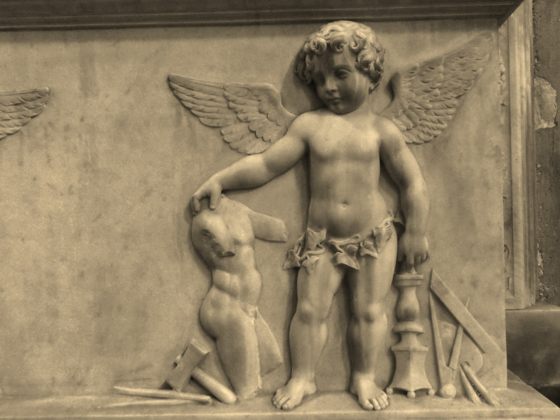 Accomplished Cherubs, Within the Walls of Lucca, North West Italy