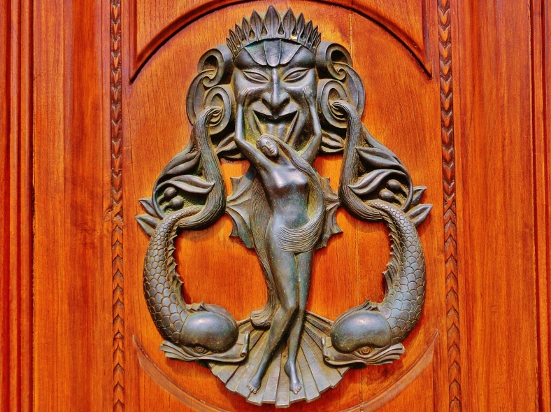 Door Knocker, Within the Walls of Lucca, Tuscany, Italy