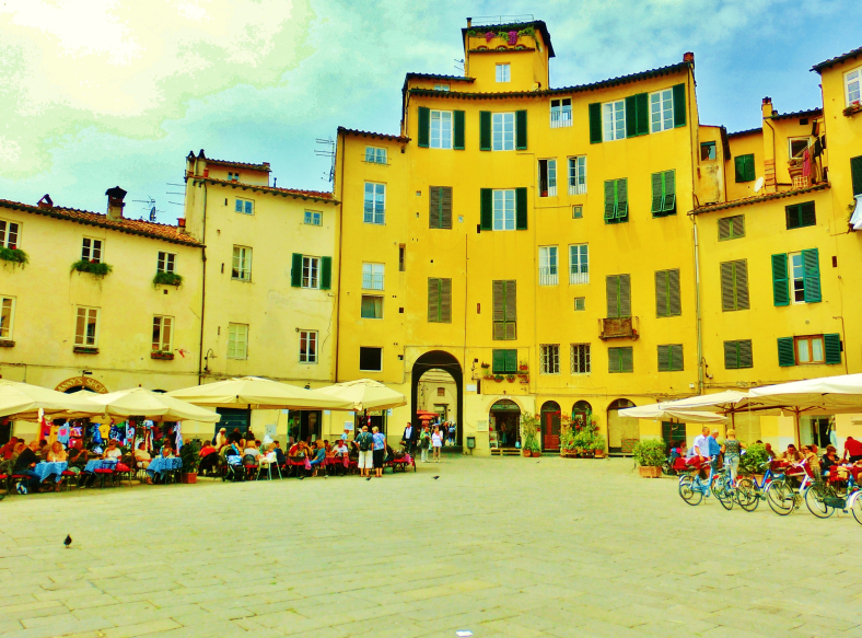 The Oval Square, Within the Walls of Lucca, Tuscany