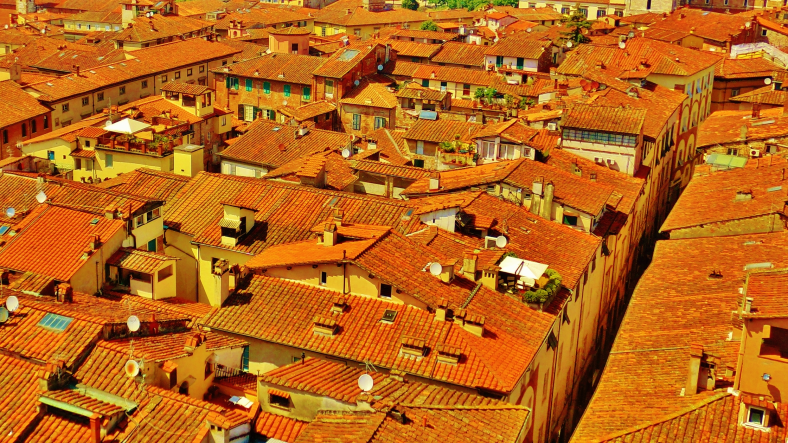 View from the Tower, Lucca, Within the Walls, North West Tuscany