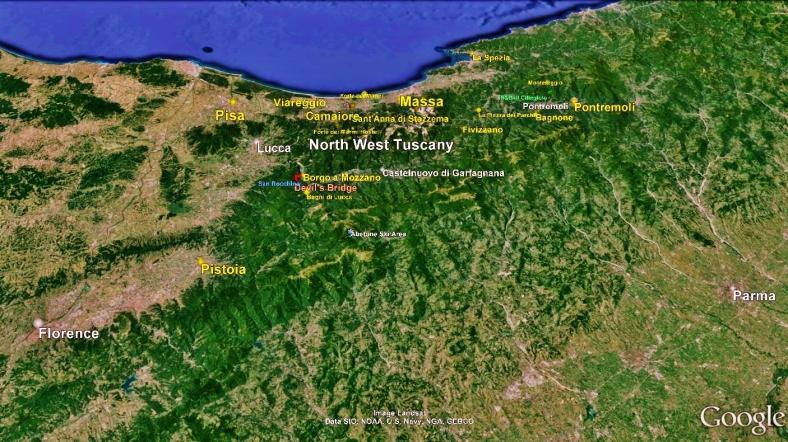 Pistoia Big Map 1 Google Earth