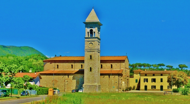 Church Tower, Countryside Around Lucca and Pisa