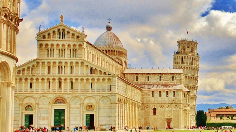 The Place of Miracles, Leaning Tower, Cathedral and Baptistery, Old Pisa, Along The North West Tuscan Way by Martin Cooney