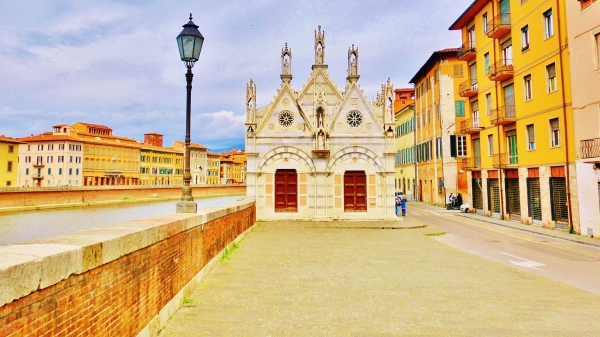 Jewlbox for a Thorn, Downtown Pisa, Along The North West Tuscan Way by Martin Cooney