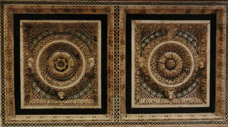 Ornate Carved Detail. Pisa, Baptistery, Tuscany, Italy