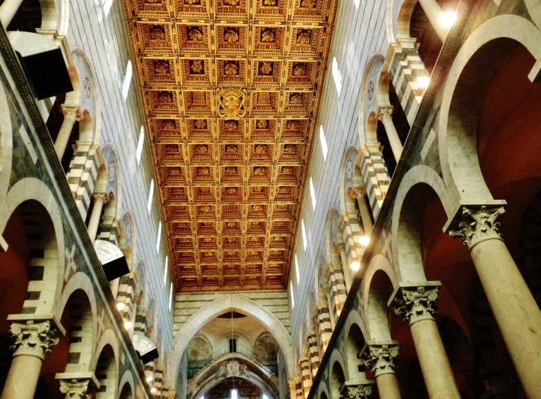 Ceiling of Pisa Cathedral, on the North West Tuscan Way by Martin Cooney Dotcom