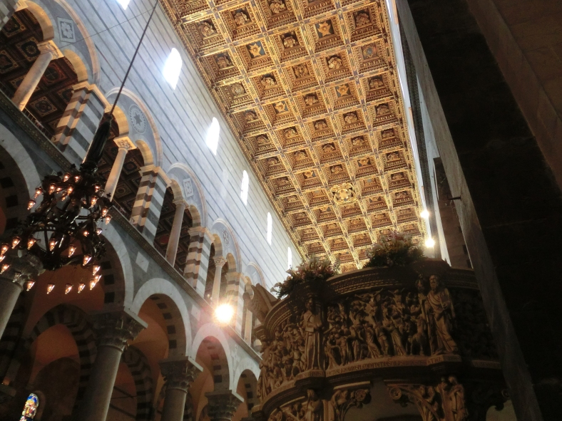 Pulpit, Ceiling, Pisa Cathedral, Tuscany, Italy