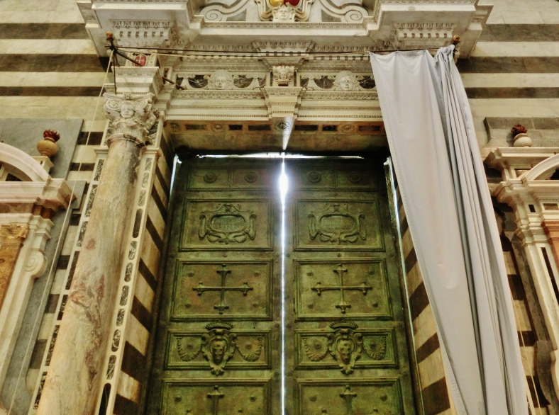 The Doors of Pisa Cathedral, Tuscany, Italy