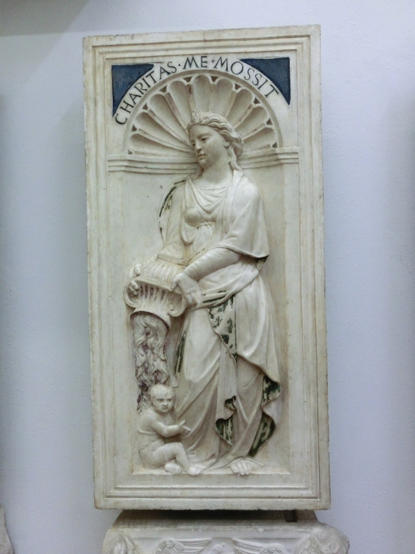 Bas Relief Stone Carving, Pisa Cathedral, Tuscany, Italy