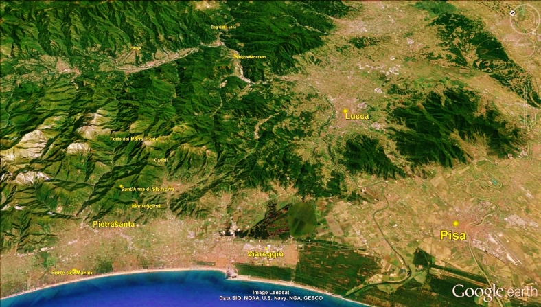 Pisa Tuscan Way Map 3 Google Earth