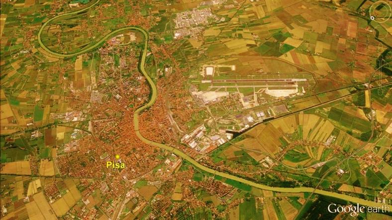 Pisa, Tuscan Way Map 4 Google Earth