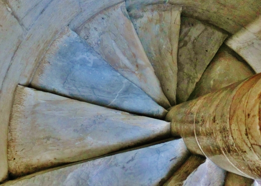 Spiral Stairs within The Leaning Tower of Pisa, Italy, on the North West Tuscan Way by Martin Cooney