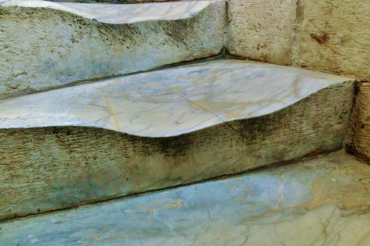 Foot Worn Steps within The Leaning Tower of Pisa, Italy, on the North West Tuscan Way by Martin Cooney