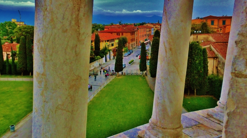 View From The Leaning Tower of Pisa, Italy, on the North West Tuscan Way by Martin Cooney