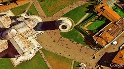 Pisa, Leaning Tower Exit, Google Earth Map 1