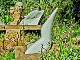 Snowgoyles, Tudor Rose, Mabel, Wimbledon 1973, Yule Marble Sculpture by Martin Cooney