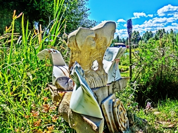 Terrible Lizard, Dreadnought, Snowgoyles, Mabel, Yule Marble Sculpture by Martin Cooney