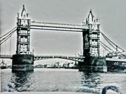 Tower Bridge, early sixties, London, England, UK.