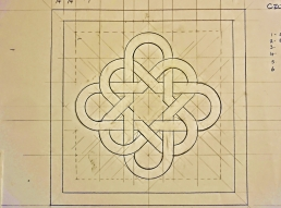 Endless Knot masonry template design. Martin Cooney.