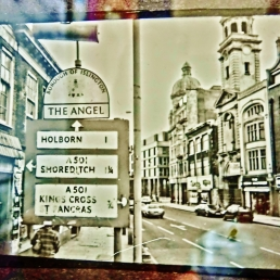 The Old Angel Islington, bw photo, mid eighties, Martin Cooney.