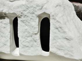 Troglodyte Cloister, Colorado Yule Marble Sculpture by Martin Cooney.