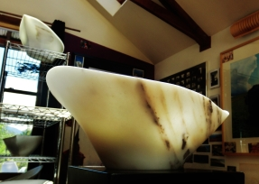 Adam, Titanic, The Maiden Collection, Colorado Yule Marble Sculpture by Martin Cooney.