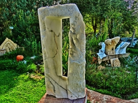Oblique Perspective, Dreadnought, Snowgoyles, Mabel, Yule Marble Sculpture by Martin Cooney