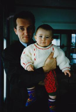 Martin Cooney with son Joseph, at home in South East Portland