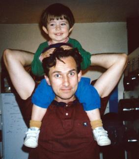 Martin Cooney, with son Joseph, 1996, Portland, Oregon