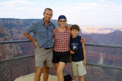 Martin Cooney at The Grand Canyon, with Kris and Joseph