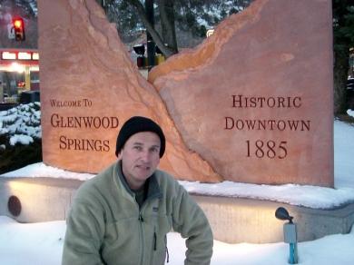 Martin Cooney, author martincooney.com, Glenwood Springs Entrance Sign, Colorado