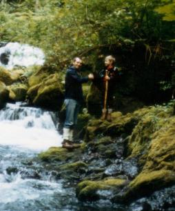 Martin Cooney shakes new Junior Wizard Bill's hand, Cascade Falls, Oregon