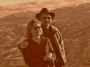 Martin Cooney with wife Kris, Roaring Fork Valley, Colorado, USA