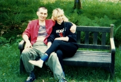 Martin Cooney with Kris, English Countryside, 1980s