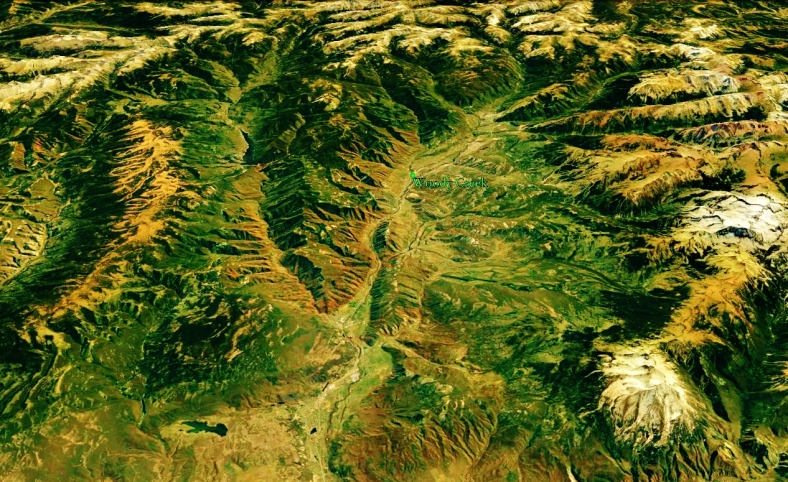 The Roaring Fork Valley and Woody Creek from Space, map 16