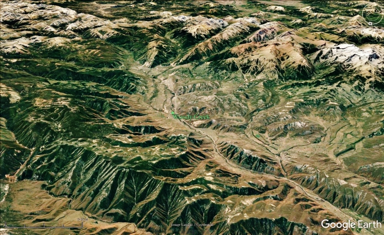 Aspen, The Roaring Fork Valley and Woody Creek from Space, map 17
