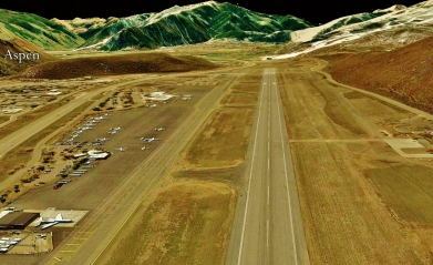 Aspen Airport, Woody Creek from Space, map 22