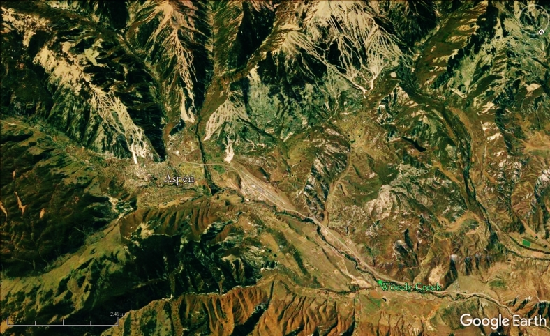 Woody Creek from Space, map 24
